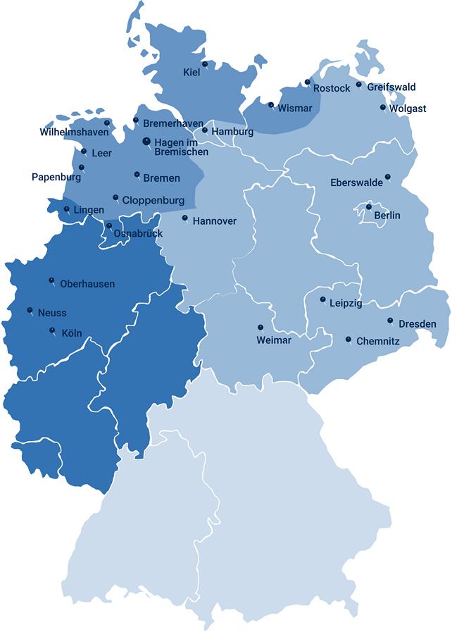 Standorte Karte