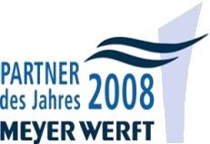 2008 - Die Dipl.-Ing. H. Sitte GmbH & Co. KG wird Partner des Jahres der Meyer-Werft